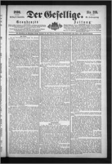 Der Gesellige : Graudenzer Zeitung 1890.09.19, Jg. 65, No. 219