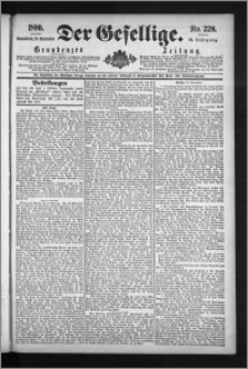 Der Gesellige : Graudenzer Zeitung 1890.09.20, Jg. 65, No. 220