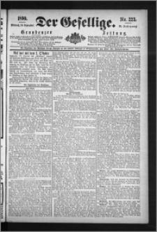 Der Gesellige : Graudenzer Zeitung 1890.09.24, Jg. 65, No. 223