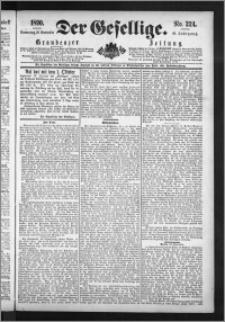 Der Gesellige : Graudenzer Zeitung 1890.09.25, Jg. 65, No. 224