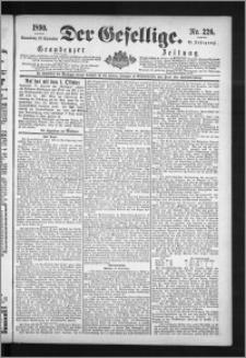 Der Gesellige : Graudenzer Zeitung 1890.09.27, Jg. 65, No. 226