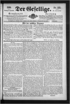 Der Gesellige : Graudenzer Zeitung 1890.09.28, Jg. 65, No. 227