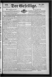 Der Gesellige : Graudenzer Zeitung 1890.09.30, Jg. 65, No. 228