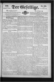 Der Gesellige : Graudenzer Zeitung 1890.10.04, Jg. 65, No. 232
