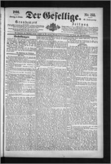Der Gesellige : Graudenzer Zeitung 1890.10.05, Jg. 65, No. 233