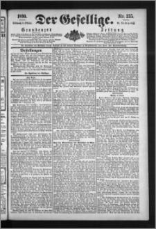 Der Gesellige : Graudenzer Zeitung 1890.10.08, Jg. 65, No. 235