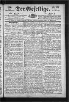 Der Gesellige : Graudenzer Zeitung 1890.10.09, Jg. 65, No. 236