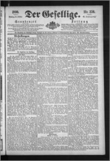 Der Gesellige : Graudenzer Zeitung 1890.10.12, Jg. 65, No. 239