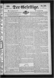 Der Gesellige : Graudenzer Zeitung 1890.10.16, Jg. 65, No. 242