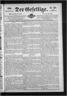 Der Gesellige : Graudenzer Zeitung 1890.10.22, Jg. 65, No. 247