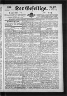 Der Gesellige : Graudenzer Zeitung 1890.10.25, Jg. 65, No. 250