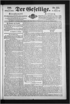 Der Gesellige : Graudenzer Zeitung 1890.10.29, Jg. 65, No. 253