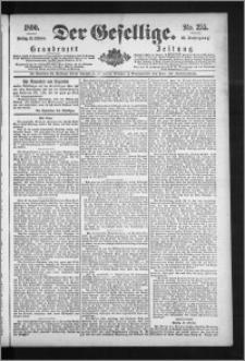 Der Gesellige : Graudenzer Zeitung 1890.10.31, Jg. 65, No. 255