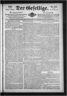 Der Gesellige : Graudenzer Zeitung 1890.11.02, Jg. 65, No. 257