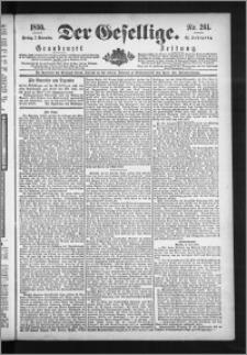 Der Gesellige : Graudenzer Zeitung 1890.11.07, Jg. 65, No. 261