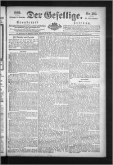 Der Gesellige : Graudenzer Zeitung 1890.11.12, Jg. 65, No. 265
