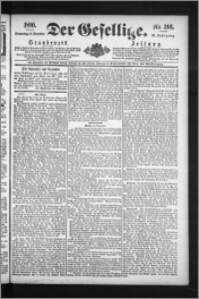 Der Gesellige : Graudenzer Zeitung 1890.11.13, Jg. 65, No. 266