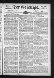 Der Gesellige : Graudenzer Zeitung 1890.11.14, Jg. 65, No. 267