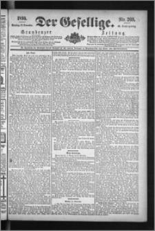 Der Gesellige : Graudenzer Zeitung 1890.11.16, Jg. 65, No. 269