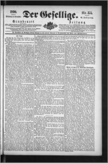 Der Gesellige : Graudenzer Zeitung 1890.11.19, Jg. 65, No. 271