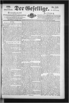 Der Gesellige : Graudenzer Zeitung 1890.11.21, Jg. 65, No. 273