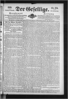 Der Gesellige : Graudenzer Zeitung 1890.11.25, Jg. 65, No. 276