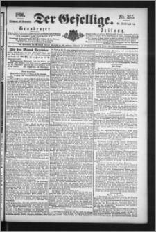 Der Gesellige : Graudenzer Zeitung 1890.11.26, Jg. 65, No. 277