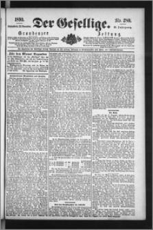 Der Gesellige : Graudenzer Zeitung 1890.11.29, Jg. 65, No. 280