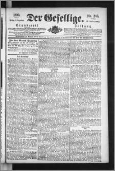 Der Gesellige : Graudenzer Zeitung 1890.12.05, Jg. 65, No. 285