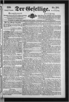 Der Gesellige : Graudenzer Zeitung 1890.12.09, Jg. 65, No. 288