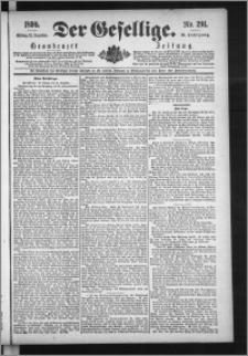 Der Gesellige : Graudenzer Zeitung 1890.12.12, Jg. 65, No. 291