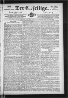 Der Gesellige : Graudenzer Zeitung 1890.12.13, Jg. 65, No. 292