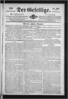 Der Gesellige : Graudenzer Zeitung 1890.12.31, Jg. 65, No. 305