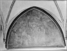 """Pelplin. Bazylika katedralna Wniebowzięcia NMP. Krużganek południowy (?) Obraz """"Gościnność Abrahama"""" (lub """"Głodnych nakarmić"""") (?)"""