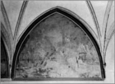 """Pelplin. Bazylika katedralna Wniebowzięcia NMP. Krużganek południowy. Obraz """"Lot gości aniołów"""" (lub """"Podróżnych w dom przyjąć"""")"""
