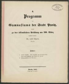 4. Programm des Gymnasiums der Stadt Pyritz, womit zu der öffentlichen Prüfung am 30. März