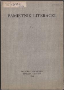 Pamiętnik Literacki 1946, T. 7
