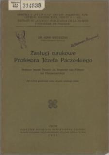 Professor Joseph Paczoski als Begründer und Förderer der Pflanzensoziologie