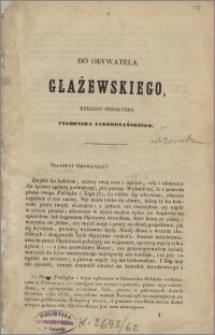 """Do obywatela Głażewskiego, byłego redaktora """"Tygodnika Nadobrzańskiego"""""""