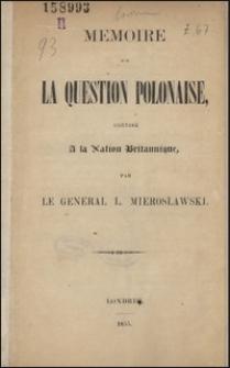 Mémoire sur la question polonaise, adressé à la nation britannique