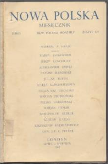 Nowa Polska = New Poland Monthly 1942, T. 1 z. 4/5