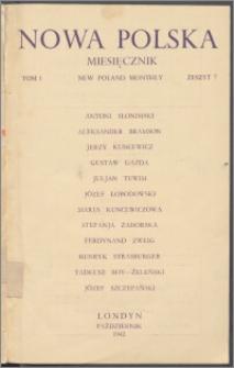 Nowa Polska = New Poland Monthly 1942, T. 1 z. 7