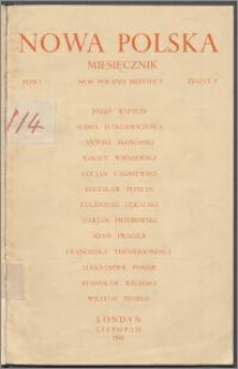 Nowa Polska = New Poland Monthly 1942, T. 1 z. 8