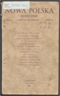 Nowa Polska = New Poland Monthly 1945, T. 4 z. 1
