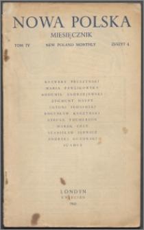 Nowa Polska = New Poland Monthly 1945, T. 4 z. 4