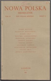 Nowa Polska = New Poland Monthly 1945, T. 4 z. 5