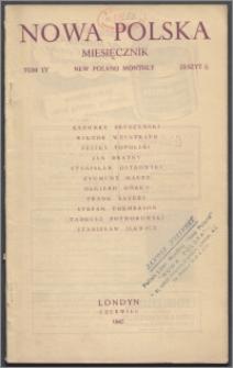 Nowa Polska = New Poland Monthly 1945, T. 4 z. 6