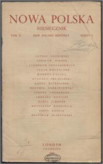 Nowa Polska = New Poland Monthly 1945, T. 5 z. 3