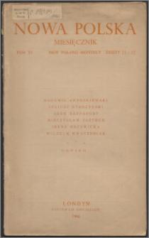 Nowa Polska = New Poland Monthly 1946, T. 6 z. 11/12