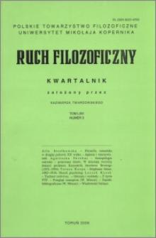 Ruch Filozoficzny. T. 63, nr 3